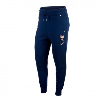Pantaloni lunghi Nike Nazionale Francia NSW Tech Fleece WWC 2019 Donna Midnight navy-White