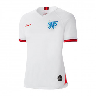 Jersey  Nike Seleccion Inglaterra Breathe Stadium SS Primera Equipación WWC 2019 Mujer White-Challenge red