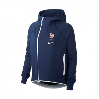 Felpa Nike Nazionale Francia NSW Tech Fleece WWC 2019 Mujer Midnight navy-White