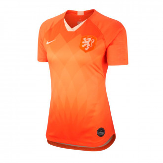 Maillot  Nike Sélection Pays Bas Breathe Stadium SS Primera Equipación WWC 2019 Femme Safety orange-Orange quartz