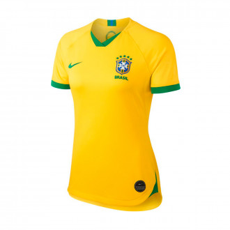 Jersey  Nike Bazil National Team Breathe Stadium SS Primera Equipación WWC 2019 Mujer Midwest gold-Lucky green