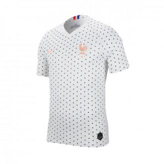 Camisola  Nike Selección Francia Breathe Stadium SS Segunda Equipación WWC 2019 Mujer White