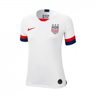 Jersey  Nike USA National Team Breathe Stadium SS Primera Equipación WWC 2019 Mujer White-Blue void-University red