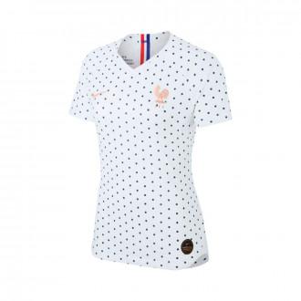 Camiseta  Nike Selección Francia Vapor Match SS Segunda Equipación WWC 2019 Mujer White
