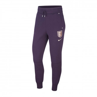 Pantalón largo  Nike Seleccion Inglaterra NSW Tech Fleece WWC 2019 Mujer Purple dynasty-White