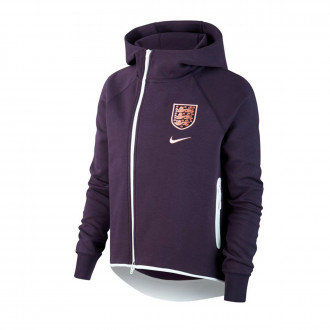 Chaqueta  Nike Seleccion Inglaterra NSW Tech Fleece WWC 2019 Mujer Purple dynasty-White
