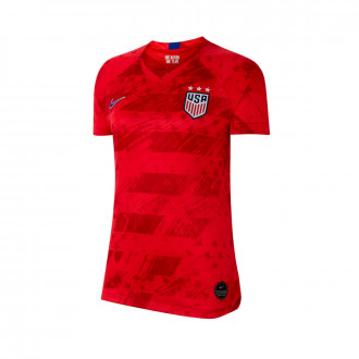 Jersey  Nike USA National Team Breathe Stadium SS  Away WWC 2019 Mujer Speed red-Bright blue-Bright blue