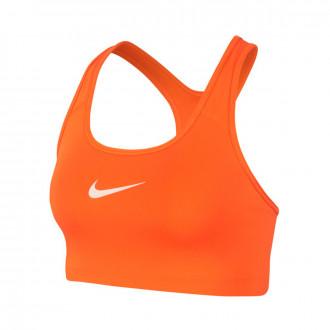 Soutien-gorge  Nike Swoosh Sports 2018-2019 Mujer Safety orange-Orange quartz