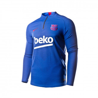 Sweatshirt  Nike FC Barcelona VaporKnit Strike Dril Top HN 2019-2020 Lyon blue-Noble red