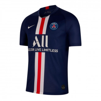 Camiseta Nike Paris Saint-Germain Breathe Stadium SS Primera Equipación 2019-2020 Midnight navy-White