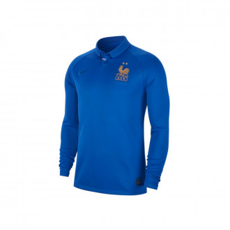 Maillot  Nike Equipe de  France Breathe Stadium LS 2018-2019 Game royal
