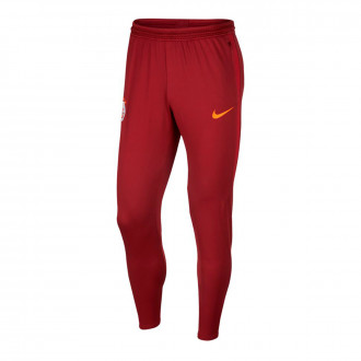 Long pants   Nike Galatasaray SK Dry Strike KP 2019-2020 Dark team red-Pepper red-Vivid orange