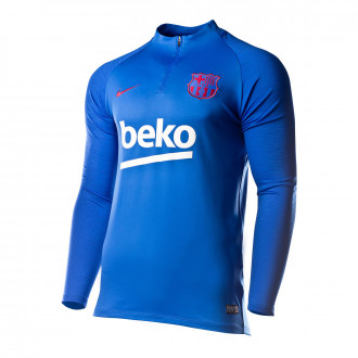 Sweatshirt  Nike FC Barcelona Dry Strike Dril Top 2019-2020 Lyon blue-Noble red