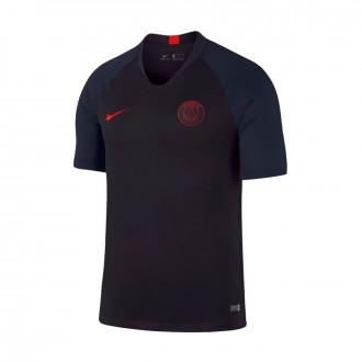 Maillot  Nike Paris Saint Germain Breathe Strike Top SS 2019-2020 Oil grey-University red