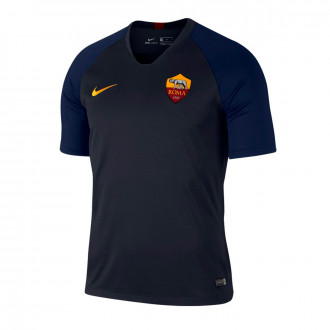 Maglia Nike AS Roma Breathe Strike Top SS 2019-2020 Dark obsidian-University gold