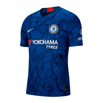 Maillot  Nike Chelsea FC Breathe Stadium SS domicile 2019-2020 Rush blue-White