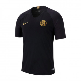 Camiseta  Nike Inter Milán Breathe Strike Top SS 2019-2020 Black-Truly gold