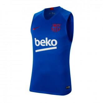 Camiseta  Nike FC Barcelona Breathe Strike Top SL 2019-2020 Lyon blue-Noble red