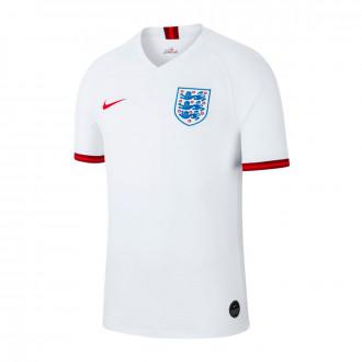Camisola  Nike Seleccion Inglaterra Breathe Stadium SS Primera Equipación 2018-2019 White-Challenge red