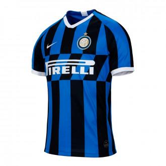 Camisola  Nike Inter Milán Breathe Stadium SS P Equipamento Principal  2019-2020 Blue spark-White