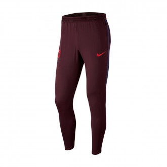 Long pants   Nike FC Barcelona Dry Strike KP 2019-2020 Burgundy ash-Deep royal blue-Noble red