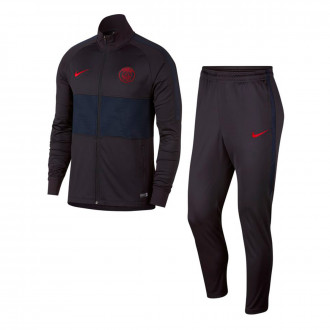 Tracksuit Nike Paris Saint-Germain Dry Strike K 2019-2020 Oil grey-University red