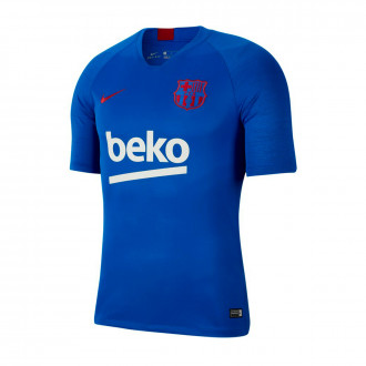Camiseta Nike FC Barcelona Breathe Strike Top SS 2019-2020 Lyon blue-Noble red