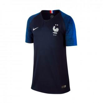 Camiseta  Nike Selección Francia Breathe Stadium Primera Equipación 2018-2019 Obsidian-Hyper cobalt