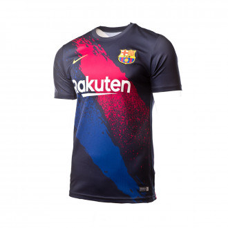 Playera Nike FC Barcelona Dry Top SS PM 2019-2020 Dark obsidian-Varsity maize