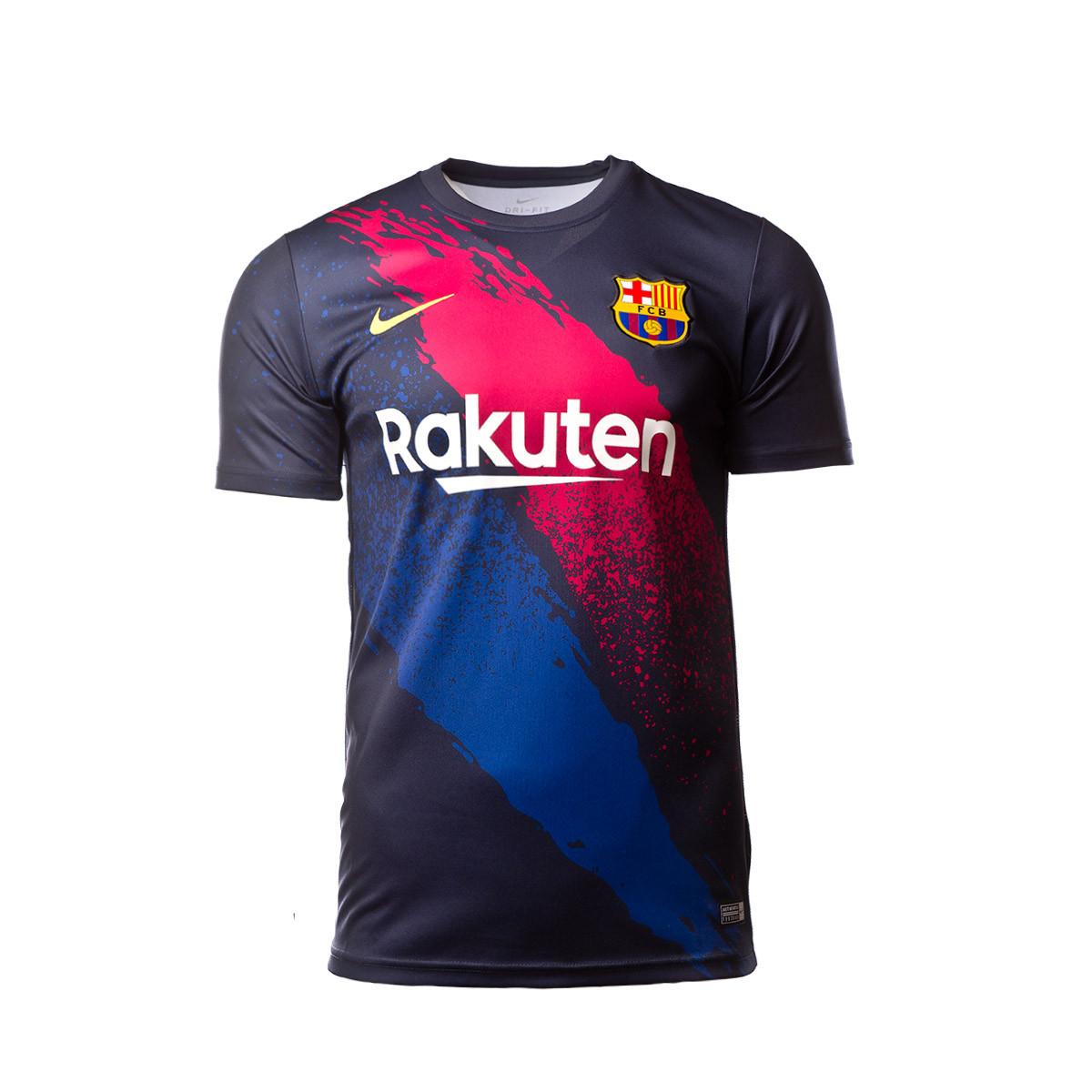 best service 863e4 bd3ea Camiseta FC Barcelona Dry Top SS PM 2019-2020 Dark obsidian-Varsity maize