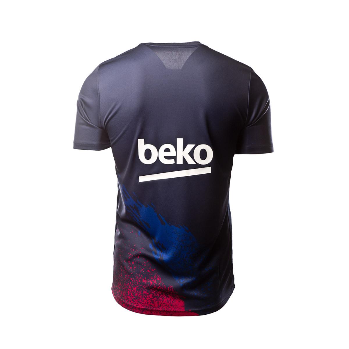 best service 97eac 80231 Camiseta FC Barcelona Dry Top SS PM 2019-2020 Dark obsidian-Varsity maize