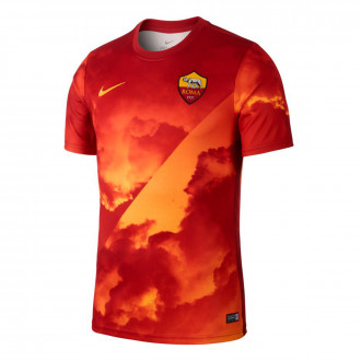 Maglia Nike AS Roma Dry Top SS PM 2019-2020 University gold