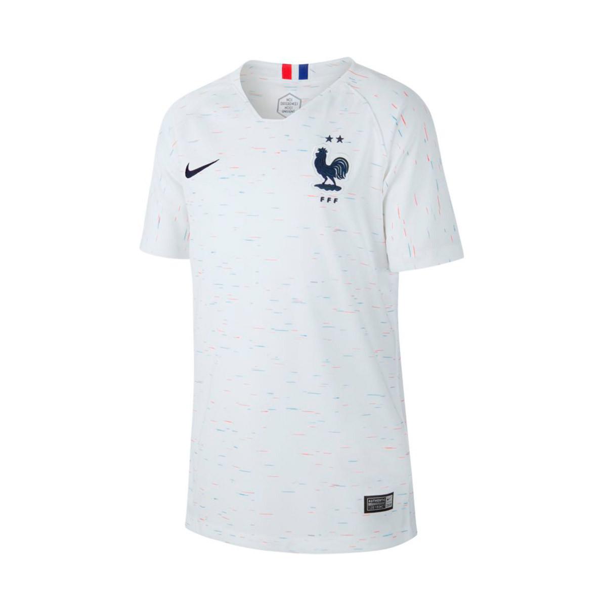 813007b544 Jersey Nike Selección Francia Breathe Stadium Segunda Equipación 2018-2019  Niño White-Obsidian - Football store Fútbol Emotion