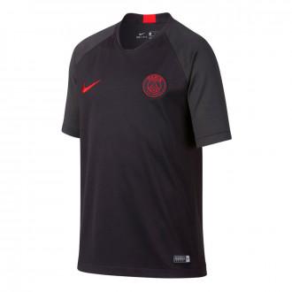 Camiseta Nike Paris Saint-Germain Breathe Strike Top SS 2019-2020 Niño Oil grey-University red