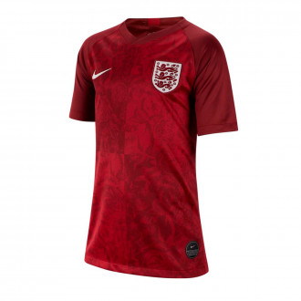 Camiseta  Nike Seleccion Inglaterra Breathe Stadium SS Segunda Equipación 2018-2019 Niño Team red-Phantom