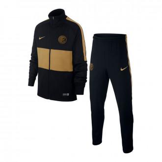 Chándal  Nike Inter Milán Dry Strike K 2019-2020 Niño Black-Truly gold