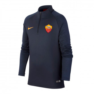 Sweatshirt  Nike AS Roma Dry Strike Dril Top 2019-2020 Niño Dark obsidian-University gold