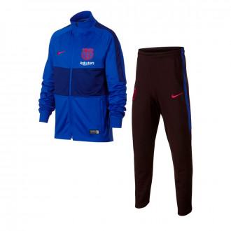 Fato de treino Nike FC Barcelona Dry Strike K 2019-2020 Niño Lyon blue-Noble red