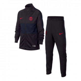 Tracksuit Nike Paris Saint-Germain Dry Strike K 2019-2020 Niño Oil grey-University red