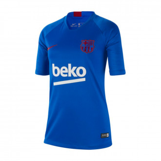 Camiseta Nike FC Barcelona Breathe Strike Top SS 2019-2020 Niño Lyon blue-Noble red
