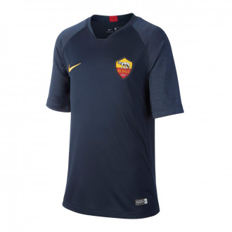 Camiseta Nike AS Roma Breathe Strike Top SS 2019-2020 Niño Dark obsidian-University gold