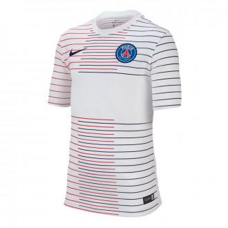 Camiseta Nike Paris Saint-Germain Dry Top SS PM 2019-2020 Niño White-Midnight navy