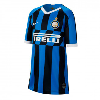 Camisola  Nike Inter Milán Breathe Stadium SS Equipamento Principal 2019-2020 Crianças Blue spark-White
