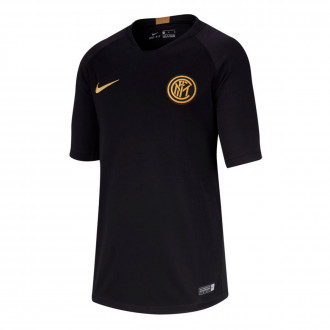 Maglia Nike Inter Breathe Strike Top SS 2019-2020  Bambino Black-Truly gold