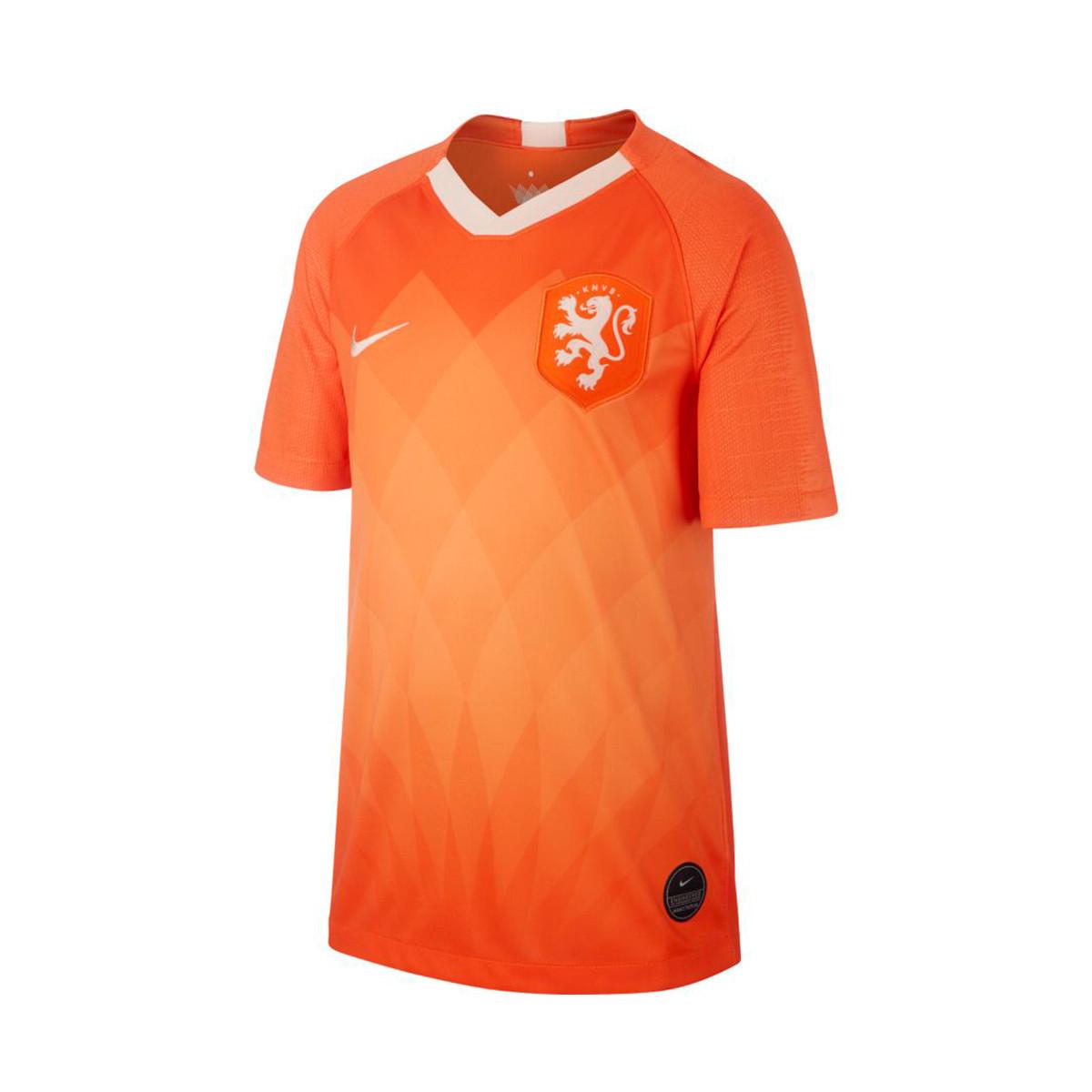 Niños Mareo globo  Camiseta Nike Selección Holanda Breathe Stadium SS Primera Equipación 2018-2019  Niño Safety orange-Orange quartz - Tienda de fútbol Fútbol Emotion
