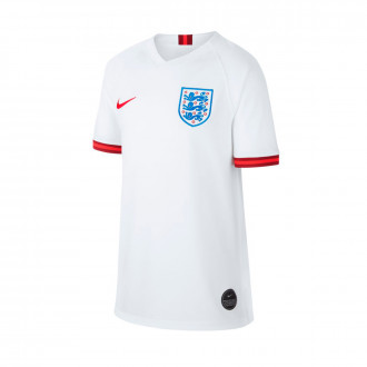 Jersey Nike Kids England National Team Breathe Stadium SS Home 2018-2019  White-Challenge red