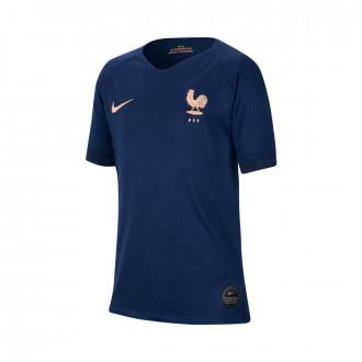 Maillot  Nike Equipe France Breathe Stadium SS Domicile 2018-2019 enfant Midnight navy