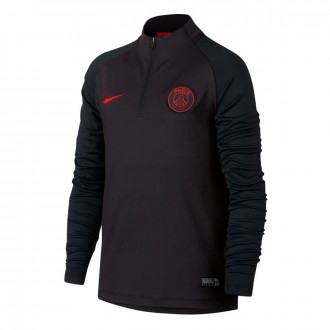 Sweat  Nike Paris Saint-Germain Dry Strike Dril Top 2019-2020 enfant Oil grey-University red