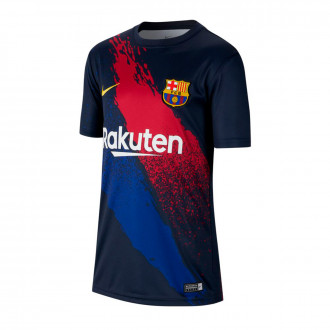 Playera Nike FC Barcelona Dry Top SS PM 2019-2020 Niño Dark obsidian-Varsity maize