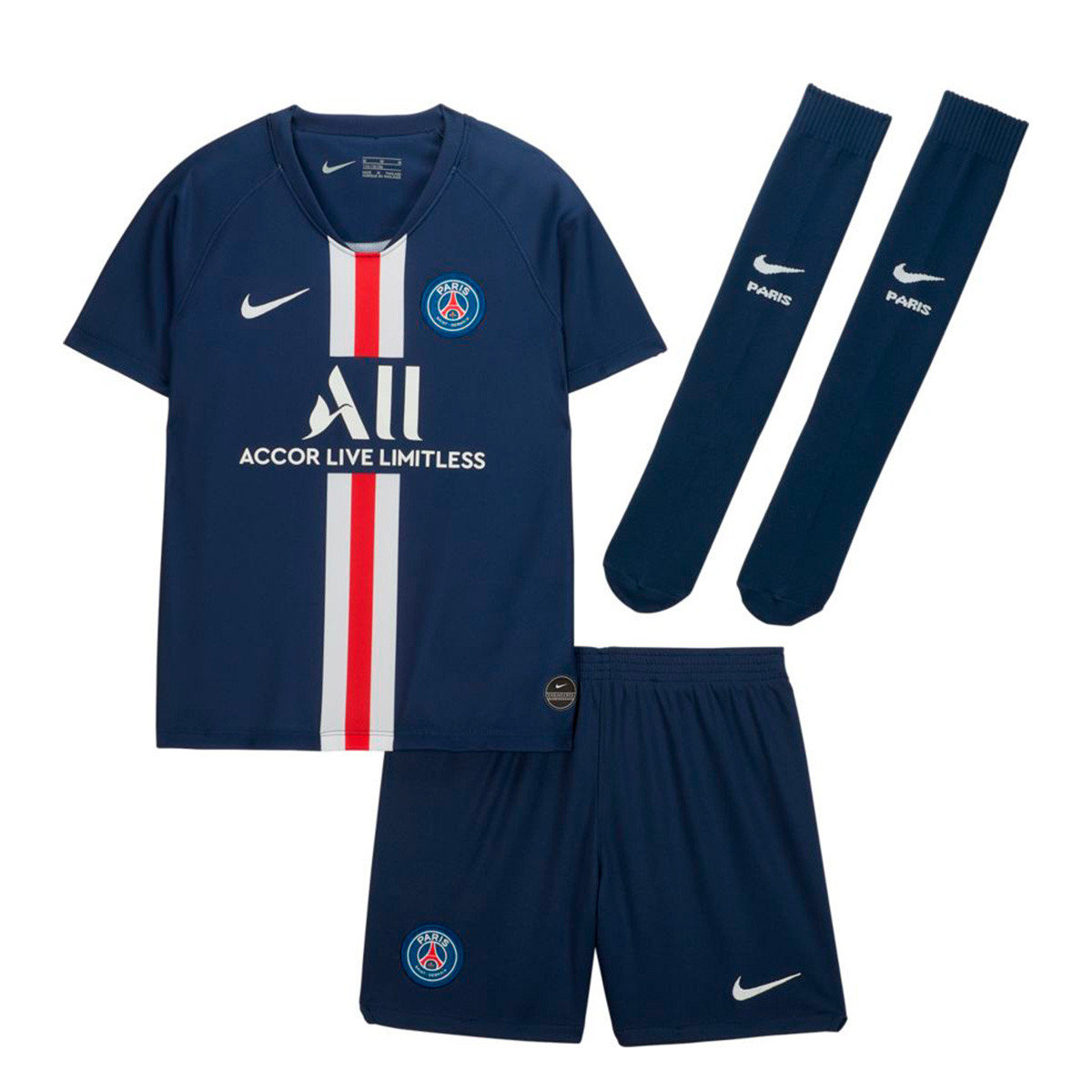 Kit Nike Kids Paris Saint Germain Breathe 2019 2020 Home Midnight Navy White Football Store Futbol Emotion